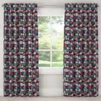 Skyline Furniture Capricorn 120-Inch Rod Pocket/Back Tabs Blackout Window Curtain Panel in Tropical