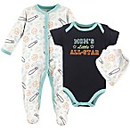 "Luvable Friends® 3-Piece ""Moms Little All-Star"" Coverall, Bodysuit, and Bib Set"