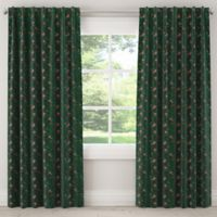 Skyline Furniture Debris 96-Inch Rod Pocket/Back Tab Window Curtain Panel in Emerald