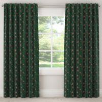 Skyline Furniture Debris 63-Inch Rod Pocket/Back Tab Blackout Window Curtain Panel in Emerald