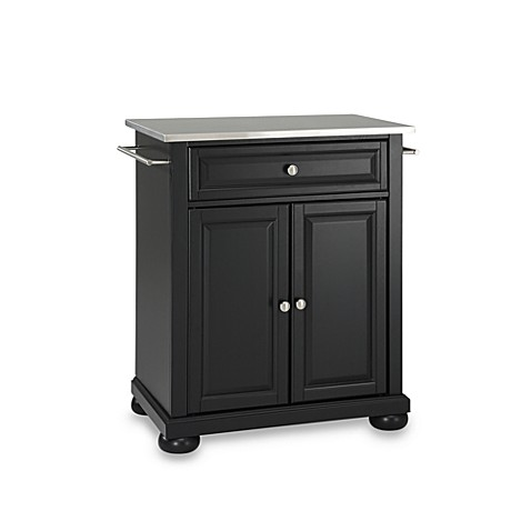 Buy Crosley Alexandria Stainless Steel Top Portable Kitchen Island In Black From Bed Bath Beyond
