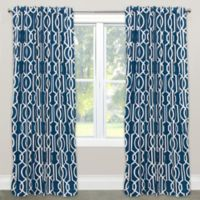 Skyline Furniture Deco 63-Inch Rod Pocket/Back Tab Window Curtain Panel in Navy