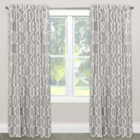 Skyline Furniture Deco 63-Inch Rod Pocket/Back Tab Blackout Window Curtain Panel in Slate