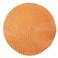 Rue Montmartre Rosette Braided Vinyl Placemats in Orange (Set of 4)