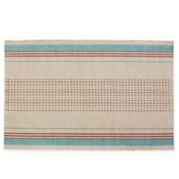 Rue Montmartre Country Table 100% Cotton Placemats in Turquoise (Set of 4)