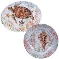 Certified International Sanibel 2-Piece Platter Set
