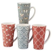 Certified International Country Weekend Latte Mugs (Set of 4)