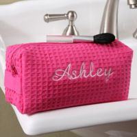 Ladies Embroidered Cosmetic Bag in Pink