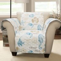 Harbor Life Arm Chair Protector in Blue
