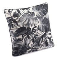 Zuo® Modern Jungle Square Throw Pillow in Black/Beige