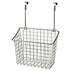 Spectrum® Steel Grid Large Over-the-Door Basket in Satin Nickel