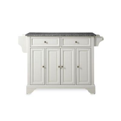 Crosley LaFayette Granite Top Kitchen Island In White