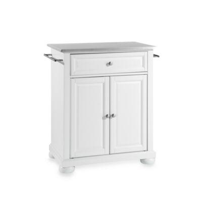 Buy Crosley Alexandria Black Granite Top Portable Kitchen Island In White From Bed Bath Beyond