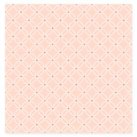 A-Street Prints Structure Chain Link Wallpaper in Salmon