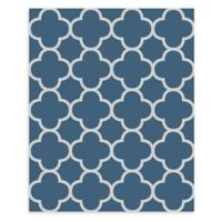A-Street Prints Origin Quatrefoil Wallpaper in Blue