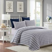 Anchors King Quilt Set in Blue