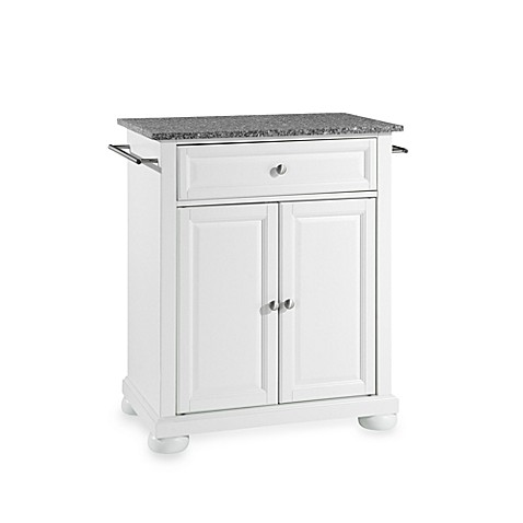 Buy Crosley Alexandria Granite Top Portable Kitchen Island In White From Bed Bath Beyond
