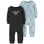 carter's® Size 6M 2-Pack Handsome Bear Coveralls