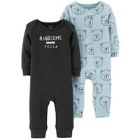 carter's® Size 3M 2-Pack Handsome Bear Coveralls
