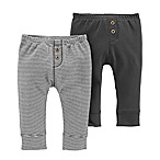 carter's® Size 3M 2-Pack Pull-On Pants in Black