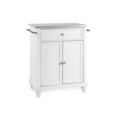 Buy Crosley Alexandria Stainless Steel Top Portable Kitchen Island In White From Bed Bath Beyond