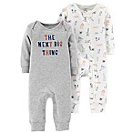 "carter's® Size 3M 2-Pack ""The Next Big Thing"" Coveralls"