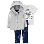 carter's® Size 3M 3-Piece Lion Hoodie, Shirt, and Pant Set