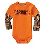 Carhartt® Realtree Xtra® Size 6M Earn That Buck Bodysuit in Orange/Camo