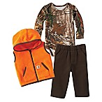 Carhartt® Size 18M 3-Piece Vest, Bodysuit, and Pant Set in Camo/Orange