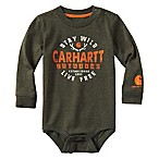 Carhartt® Size 12M Stay Wild Long-Sleeve Bodysuit in Green