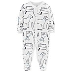 carter's® Size 3M Snap-Up Dog Thermal Sleep & Play Footie in Ivory