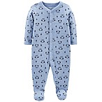 carter's® Size 6M Snap-Up Dog Thermal Sleep & Play Footie in Blue