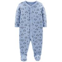 carter's® Newborn Snap-Up Dog Thermal Sleep & Play Footie in Blue