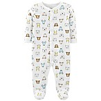 carter's® Size 3M Snap-Up Bear Thermal Sleep & Play Footie