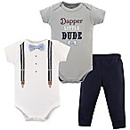 Little Treasure 6-9M 2-Piece Dapper Bow Tie Bodysuit and Pant Set