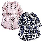 Yoga Sprout Size 6-9M 2-Pack Dot Ikat Dresses
