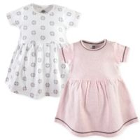 Yoga Sprout Size 6-9M 2-Pack Scroll Dresses in Pink