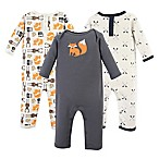 Hudson Baby® 9-12M 3-Pack Perfect Forest Union Suit