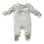 Sterling Baby Newborn Fuzzy Lamb Footed Coverall in Ivory