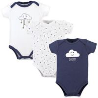 Hudson Baby® Size 12-18M 3-Pack Cloud Bodysuits in Blue/White