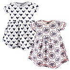 Yoga Sprout Size 0-3M 2-Pack Bloom Short Sleeve Dress Set in White