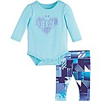 "Under Armour® Size 3-6M 2-Piece ""Fierce"" T-Shirt and Pant Set in Blue"