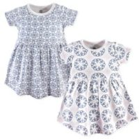 Yoga Sprout Size 5T 2-Pack Whimsical Short Sleeve Dress Set in Blue