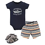 "Hudson Baby® Size 6-9M 3-Piece ""Awesome Little Dude"" Bodysuit, Shorts, and Shoes Set"