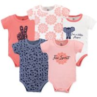 Yoga Sprout Size 18-24M 5-Pack Free Spirit Short Sleeve Bodysuits in Blue