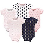 Yoga Sprout Size 3-6M 5-Pack Moroccan Bodysuits in Pink/Navy