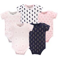 Yoga Sprout Size 18-24M 5-Pack Moroccan Bodysuits in Pink/Navy