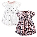 Yoga Sprout Floral Size 0-3M 2-Pack Short Sleeve Dresses in Pink