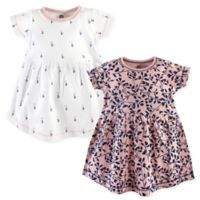 Yoga Sprout Floral Size 3T 2-Pack Short Sleeve Dresses in Pink