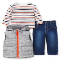 Little Me® Size 4T 3-Piece Puffer Vest, Shirt, and Pant Set in Grey